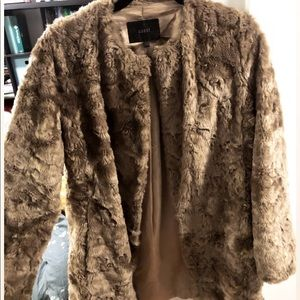 Gold Coast Faux Fur Coat Size 8
